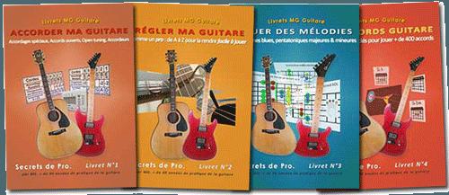 bon cadeau pour guitariste 4 livrets débutant