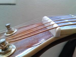 régler ma guitare :réglage du sillet