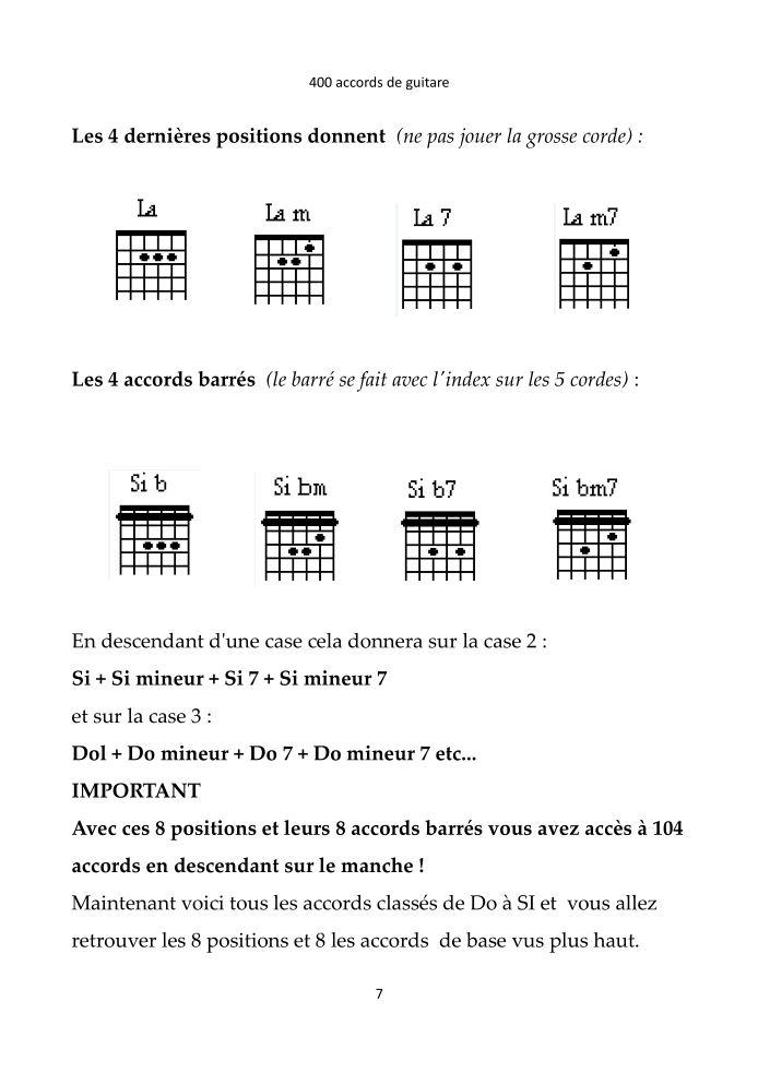 400 accords guitare