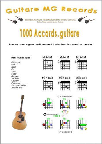 dictionnaire des accords de la guitare Français / Anglais