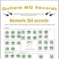 Catalogue Guitare Livrets PDF- Memento 324 accords