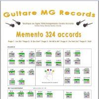 Catalogue Guitare Livrets PDF- Memento 324 accords