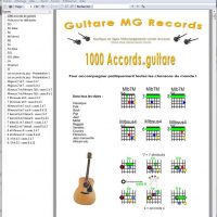 Catalogue Guitare Livrets PDF 1000 accords