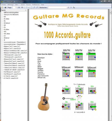 Accords guitare pdf à télécharger